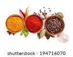 studio shot of isolated spices... | Shutterstock . vector #194716070