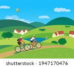 Couple Travelling By Bicycles...