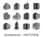 set of dimensional buildings... | Shutterstock .eps vector #194717456