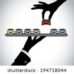 hand silhouette choosing the... | Shutterstock .eps vector #194718044