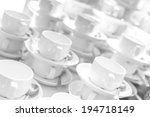 lot of tea cups stacked one on... | Shutterstock . vector #194718149