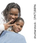 young afro girl and boy ... | Shutterstock . vector #194718896