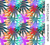 seamless pattern with drawn... | Shutterstock .eps vector #1947214126