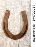 one old rusty horseshoe on... | Shutterstock . vector #194722214