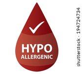 red hypoallergenic water drop...   Shutterstock . vector #194724734