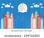 cloud city concept design. | Shutterstock .eps vector #194726303