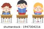 illustration of a kid boy... | Shutterstock .eps vector #1947304216