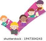 illustration of kids students... | Shutterstock .eps vector #1947304243