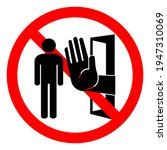 authorized personnel only...   Shutterstock .eps vector #1947310069