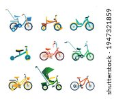 set of kids bicycles and... | Shutterstock .eps vector #1947321859