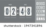 analog countdown number font....