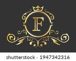 golden stylized letter f of the ...   Shutterstock .eps vector #1947342316