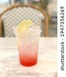 delicious ice lemon drink glass ...   Shutterstock . vector #1947356269