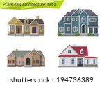 polygonal style houses and... | Shutterstock .eps vector #194736389