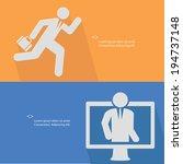 human resource concept vector | Shutterstock .eps vector #194737148