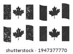 canada grunge flag set  dark...