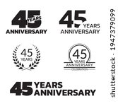 45 years anniversary icon or... | Shutterstock .eps vector #1947379099