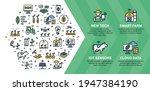 vector smart farm icon... | Shutterstock .eps vector #1947384190