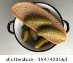 Pickled Cucumbers Close Up Lie...