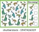 dinosaurs counting game for... | Shutterstock .eps vector #1947426319