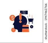 mindful spending glyph icon... | Shutterstock .eps vector #1947462766