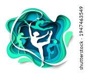 beautiful girls  rhythmic... | Shutterstock .eps vector #1947463549