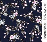 pink and grey vector flowers... | Shutterstock .eps vector #1947465949