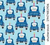 Birthday Car And Cake Pattern...