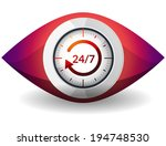 watch 24 x 7   illustration | Shutterstock .eps vector #194748530