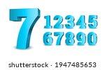 blue 3d numbers. symbol set....   Shutterstock .eps vector #1947485653