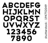 handmade sans serif font. rough ... | Shutterstock . vector #194752049