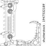 vector letter l coloring book.... | Shutterstock .eps vector #1947532189