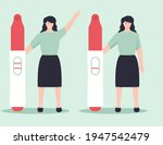 young woman holding a big... | Shutterstock .eps vector #1947542479