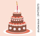 cake   40 years | Shutterstock .eps vector #194755073