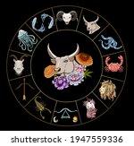 taurus vector of astrology...   Shutterstock .eps vector #1947559336