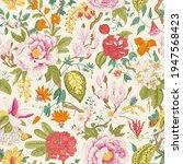 bloom. vintage floral seamless...   Shutterstock .eps vector #1947568423