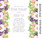 set of invitations with floral... | Shutterstock .eps vector #194764028