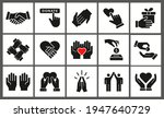 charity icon set. collection of ... | Shutterstock .eps vector #1947640729