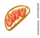drawing toast with yogurt and... | Shutterstock . vector #1947656149