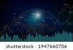 k line chart of financial stock ... | Shutterstock .eps vector #1947660706