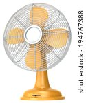 Table Fan. Orange Table Fan.