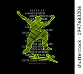 skateboarding  brooklyn ... | Shutterstock .eps vector #1947683206