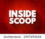 inside scoop text quote ... | Shutterstock .eps vector #1947695656