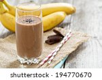 chocolate banana smoothie in a... | Shutterstock . vector #194770670