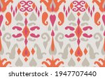 pink ethnic abstract ikat art....   Shutterstock .eps vector #1947707440