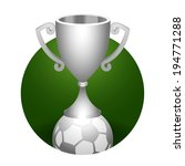 soccer ball trophy silver cup
