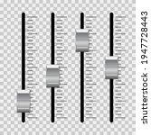 sound mixer console  dj slider...   Shutterstock .eps vector #1947728443