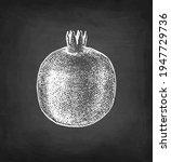pomegranate. chalk sketch on... | Shutterstock .eps vector #1947729736