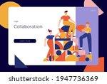 teamwork  co working  business...   Shutterstock .eps vector #1947736369