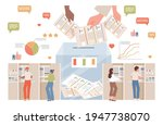 people making choice and vote... | Shutterstock .eps vector #1947738070